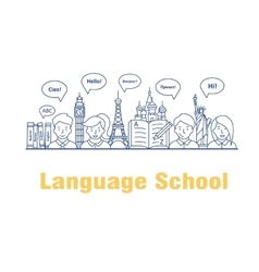 For the language courses and vector