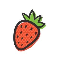 Fresh strawberry isolated vector image