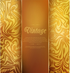 Gold vintage background vector