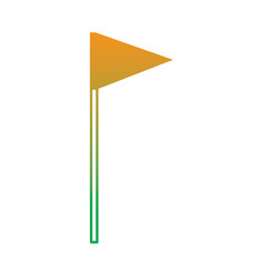 golf flag icon object mark target vector image