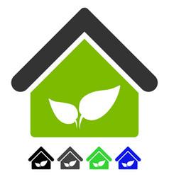 Greenhouse flat icon vector