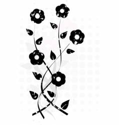 Grunge flowers ornament vector