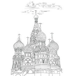 Hand drawing moscow-6 vector