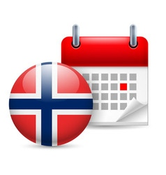 Icon of national day in norway vector