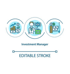 Investment manager concept icon vector