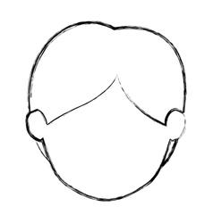 Isolated man head design vector