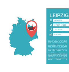 leipzig map infographic vector image