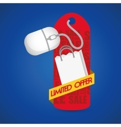 Limited offer online red tag price gift vector