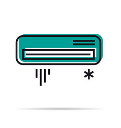 Line icon - air conditioner icon vector