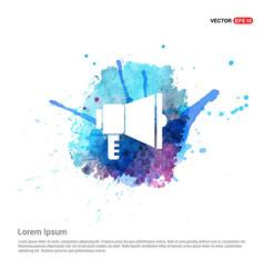 Loudspeaker icon - watercolor background vector