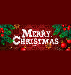 merry christmas christmas poster greeting card vector image
