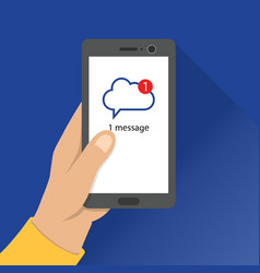 Message notification mail message received on vector