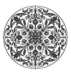 Modern circular panel is a silver plaque design vector