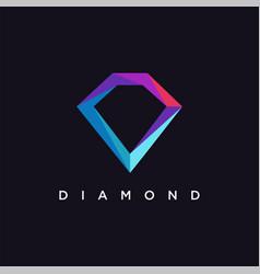 modern minimalist diamond logo icon template vector image