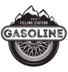 monochrome template for gas station vector image