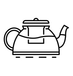 New teapot icon outline style vector