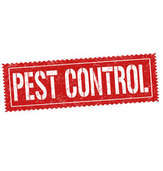 Pest control sign or stamp vector