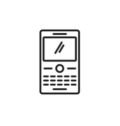 phone with buttons keyboard icon line art vector image