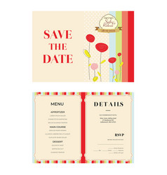 Pink background wedding invitation template vector