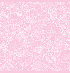 pink flowers texture pattern vector image