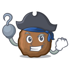 Pirate meatball character cartoon style vector