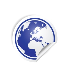 planet earth sticker in blue vector image