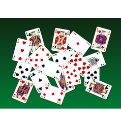 Playing cards on deck vector image