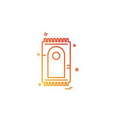 prayer mat icon design vector image