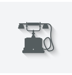 Retro phone design element vector