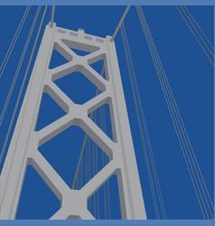 san francisco - oakland bay bridge tower vector image