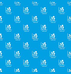 Scatter plot pattern seamless blue vector