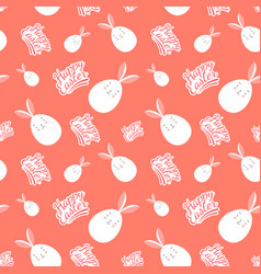 Seamless happy easter egg pattern vector