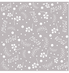 seamless pattern with berries and spruce branches vector image vector image