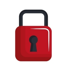 Security padlock isolated flat icon vector image