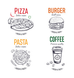 set of labels logo stickers vector image