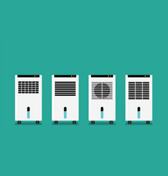 Set of mist fan in flat style front view vector