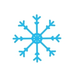Snowflake icon Winter design graphic vector image