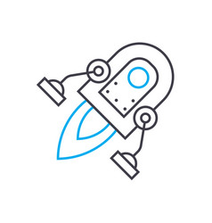 space technology thin line stroke icon vector image
