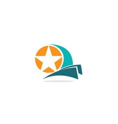star sign company logo vector image