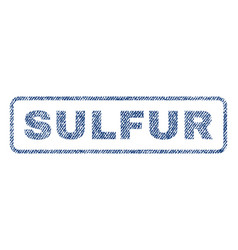 Sulfur textile stamp vector