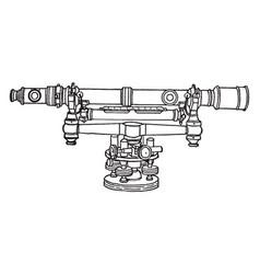 Surveyor level vintage vector