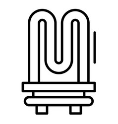 Tan from boiler icon outline style vector