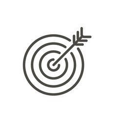 target icon line goal symbol vector image