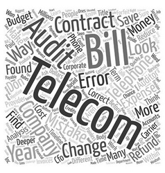 Telecom Contracts Is This Where The Money Is text vector
