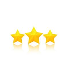 Three golden stars vector