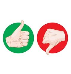 Thumb up thumb down icon vector