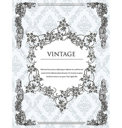 vintage frame with floral vector image
