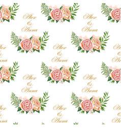 Vintage wedding pattern vector