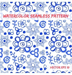 Watercolor abstract colorful seamless pattern vector image