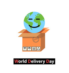 world delivery day vector image